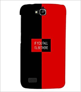 PrintDhaba Quote D-4226 Back Case Cover for HUAWEI HONOR HOLLY (Multi-Coloured)