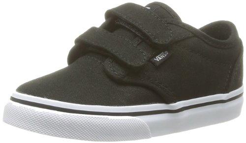 Vans ATWOOD V, Unisex-Kinder Sneakers, Schwarz ((Canvas)Blk/Wht 187), 21 EU (Canvas-sneakers Blk)