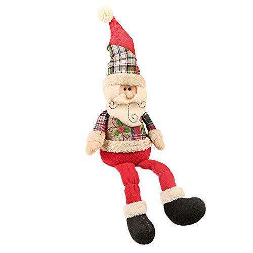 fake kamin deko Igemy Weihnachten Stil Weihnachtsmann Elk Schneemann Hut Angefülltes Plüsch Puppe 2018 (B)