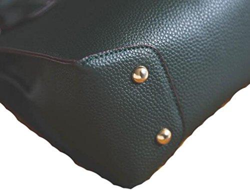 Handtaschen Art Und Weiseschulterbeutel Kurierbeutelhandtasche Kleine Quadratische Beutelnieten Brown