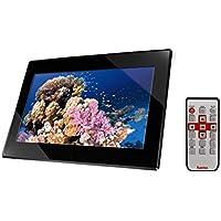 """HAMA Cornice digitale multimediale """"Slimline"""" Premium, 15,6"""" (39,60 cm), 16:10, 1366x768, 2 GB, SD, SDHC, MMC, MS, MS Pro Duo, mini USB, att.VESAedisposta per montaggio a parete, telecomando, nero"""