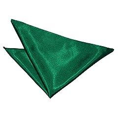 Idea Regalo - Uomo Taschino Pochette Tinta Unita Vestito Degli Raso Verde Smeraldo Fazzoletto