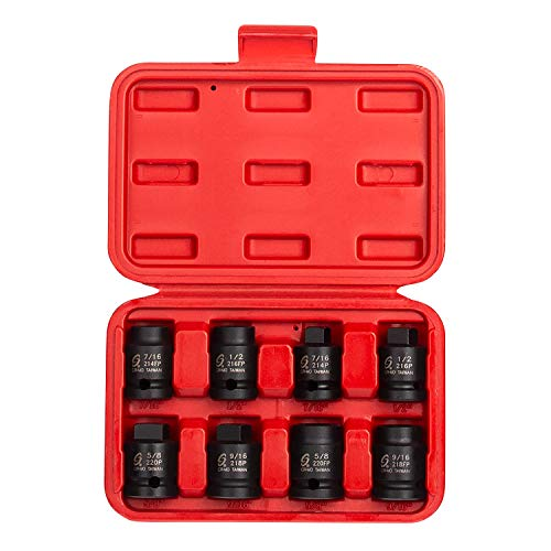 Sunex 28411/2Antrieb Pipe Plug Socket Set, in Frauen-Set, 6-kant, Cr-Mo, 7/16-5/8Stecker, 7/16-5/8Zoll weiblich, 8-teilig -