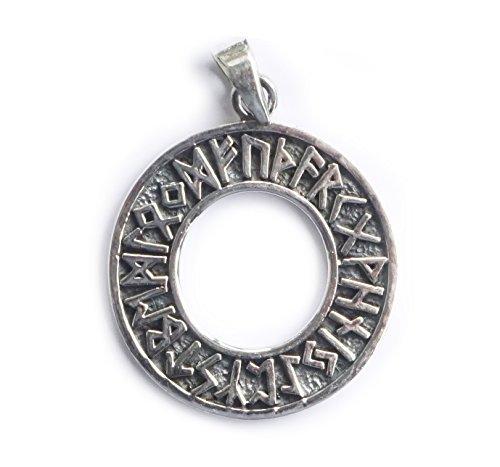 ANHÄNGER Runen keltisch 925 Sterling Silber – Wikinger - Astrologie - Mythologie - Sage - Kelten - Natur-Religion - Futhark - Orakel - Thor -...