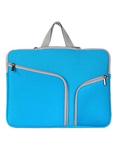 Laptop Tasche/Aktentasche für Laptop/Hülle Tasche Laptophülle Notebooktasche Schutzhülle für Apple Mac Book/ipad/Lenovo/Dell/Samsung/Asus/Acer/Hp 17 zoll Blau