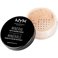 NYX Professional Makeup Polvos fijadores Mineral Finishing Powder, Polvos sueltos, Acabado mate, Absorbe brillos, Fórmula vegana, Tono: Light/Medium