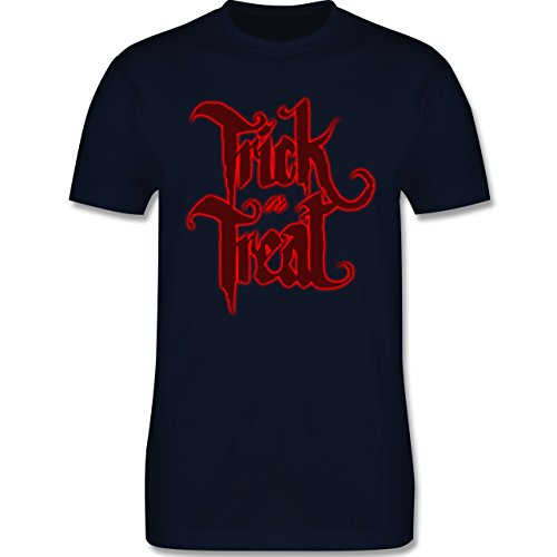 Halloween - Trick or Treat Halloween Typo - Herren Premium T-Shirt Navy Blau