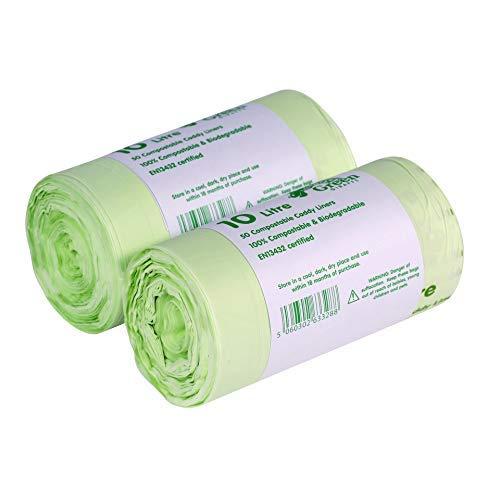 Conjunto de 100 bolsas de 10 litros para compostables, EN 13432