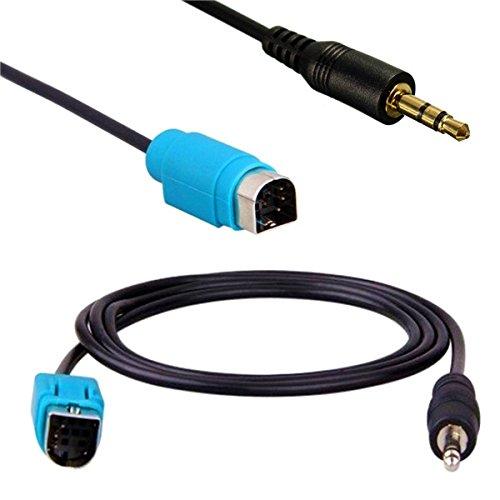 GOZAR Aux 3.5 Mm Jack Input Converter Adaptateur Câble Kce-236B pour Iphone Ipod Mp3 Alpine