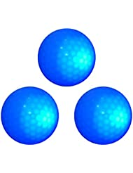 Gazechimp 3 Piezas de Bola Pelota de Golf Noche de Color Azul Oscuro Peso/Tamaño Oficial