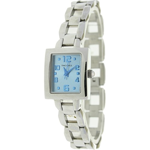 Time Force Tf3356b03mazul Reloj Analogico Para Mujer Caja De Acero Inoxidable Esfera Color Azul