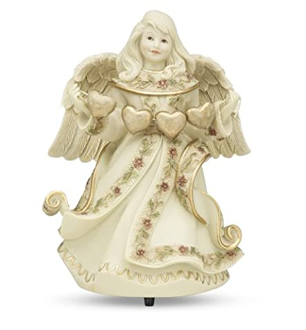 Sarah's Angels Tapestry Series Musical Angel Holding String of Hearts Figurine, Tune-Let Me Call You Sweetheart,