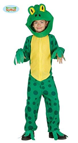 Frosch - Kostüm für Kinder Froschkostüm grün Kröte, Größe:128/134 (Frosch Und Kröte Halloween Kostüm)