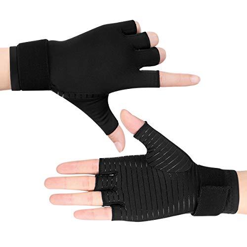 Damen Poly-spandex (Healifty Arthritis Handschuhe - Compression Gloves Kupfer Fit Handschuhe Entlasten Rheumatoide & Osteoarthritis, Was Hilft Bei Arthrose, Fitness Gloves, Herren & Damen (1 Paar))