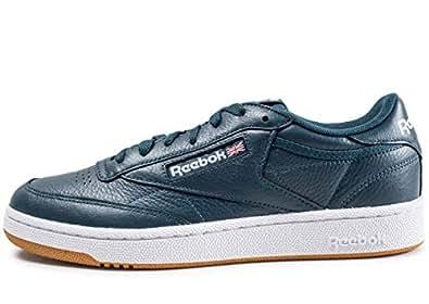 Reebok Club C 85 Mu, Chaussures de Fitness Homme, Multicolore (FG/Mineral Blue/Whit 0), 38.5 EU
