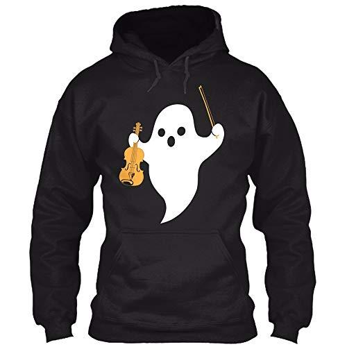 WUSIKY Kapuzenpullover Damen Hoodie Langarmshirt Halloween Kostüm Sweatshirt Casual Pulli MäNner Unisex-Liebhaber 3D Ghost Print Bluse Hemd Dünn Jacke Kapuzenjacke Damen Pullover Sweatjacke (S) (Damen Ghost Kostüm)
