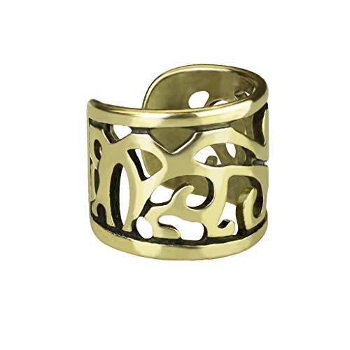 beyoutifulthings Ohr-klemme VINTAGE DESIGN CUT OUT Ohringe Ohr-ringe Ohr-clip Fake-Piercing Messing Gold - Ringe Ohrstecker Gold-nase
