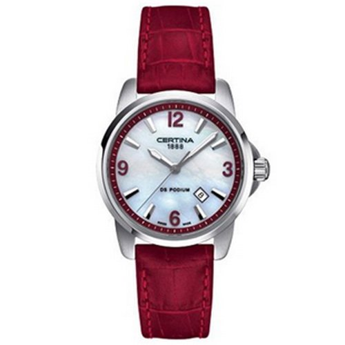 Certina Women's DS Podium 32mm Leather Band Quartz Watch C001.210.16.117.00