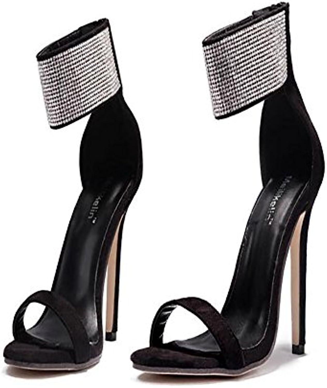 a3355daef75c5f les chaussures en daim de printemps été été été jianfcr confort la  nouveauté des sandales ouvertes toe zipper pour mariage et  soir...b07cg4ncp9 parent ...