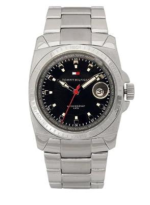 Tommy Hilfiger 1710122 - Reloj de caballero de cuarzo, correa de acero inoxidable color plata