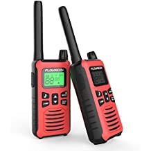 FLOUREON Walkie Talkies, 2PCS Audio bidireccional 16 Canales PMR 446MHZ con Alcance de hasta 5000