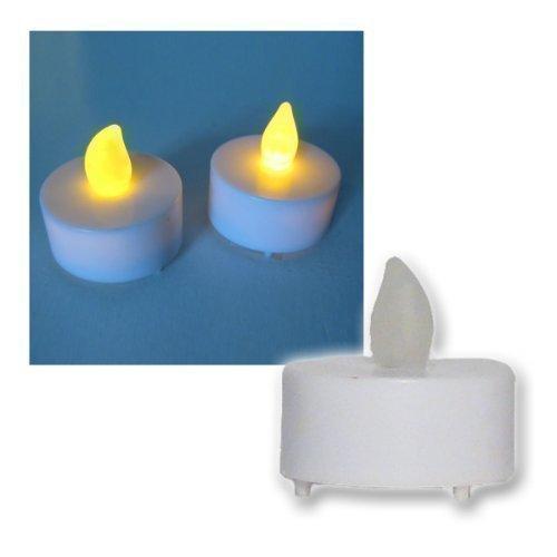 2 Set Velas de Té Eléctrica Parpadeante LED Amarilla