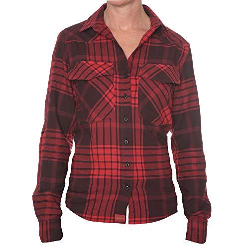 ROCK-IT Apparel Camisa de Franela Mujer Camisa de leñador a...