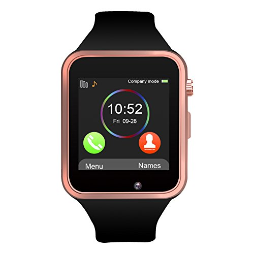 Jukkarri A1 Bluetooth Smart Watch orologio da polso con SIM Card Slot GSM Sport Watch Activity Tracker Orologio da polso per Android/iOS smartphone ...