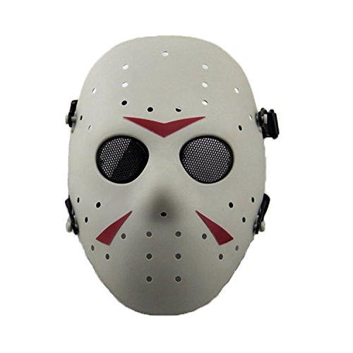 n Metall Mesh Maske Safeguard Full Face Schutz Maske für Halloween Masquerade Cosplay Kostüm Party, FG (Jason Von Halloween-kostüm)