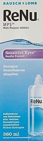 Bausch & Lomb ReNu MPS Pflegemittel für weiche Kontaktlinsen, 360 ml (Desinfizieren Von Kontaktlinsen)