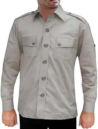 INMONARCH Safari Gainsboro Gainsboro Gainsboro Cotton 2 Pocket Bush Shirts HS111 | Il Nuovo Prodotto  | promozione  3944c4
