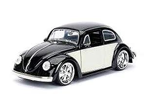 Jada Toys-Coche en Miniatura de colección, 99021bk/W, Negro/Blanco