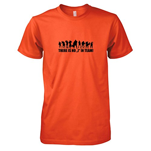 TEXLAB - Team Fortress: There is no I in Team - Herren T-Shirt Orange