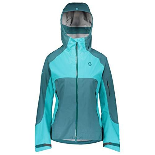 Scott W Explorair 3L Jacket Blau-Grün, Damen DermizaxTM Freizeitjacke, Größe S - Farbe Dragonfly Green - Sky Blue