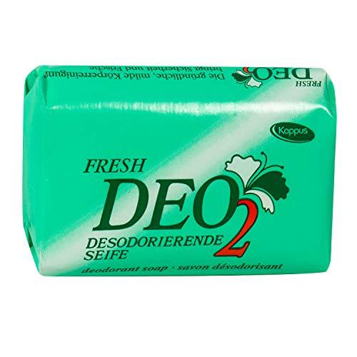 DEO2 - desodorierende Seife Kappus - Apart rosa mit Ostalgie-Karte Alles Gute