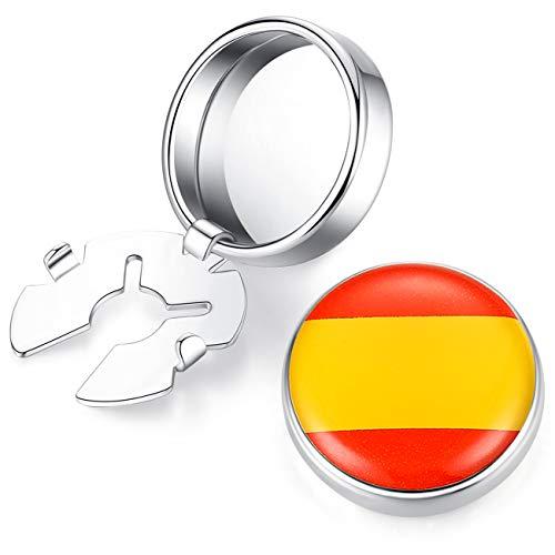 HONEY BEAR Cubre Botones Bandera Gemelos Camisa ordinaria