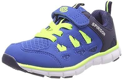 Bruetting Spiridon Fit V, Jungen Laufschuhe, Blau (Blau/Lemon), 28 EU
