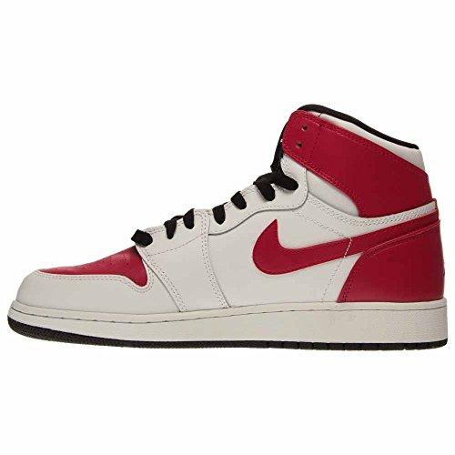 Nike Damen Air Jordan 1 Retro High Gg Laufschuhe Weiß / Schwarz / Lila (Weiß / Schwarz-Sprt Fuchsia Lv-Ht)