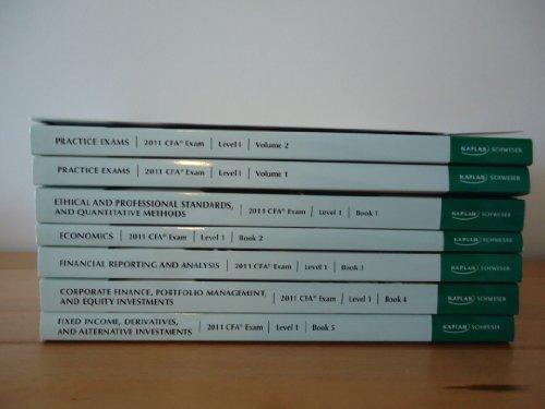 2011 CFA Kaplan Schweser Practice Exams for the 2011 CFA Exam (Level 1 Volume 2)
