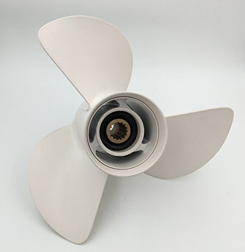 Outboard Aluminum Propeller 13 1 / 4 x 17 Propeller for Yamaha 50 - 130HP Engines