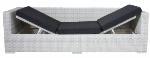 Multi Sofa Gartensofa mit Kissen Poly-Rattan, white wash - 6