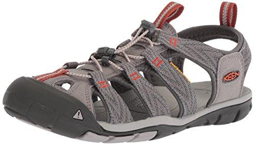 Keen Herren Clearwater CNX Sandalen Trekking-& Wanderschuhe, Grau (Grey Flannel/Potters Clay 0), 45 EU