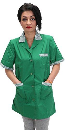 Camice da lavoro donna,maestra asilo,imprese pulizia,professionale,operaia,colore verde (m=44-46, verde)