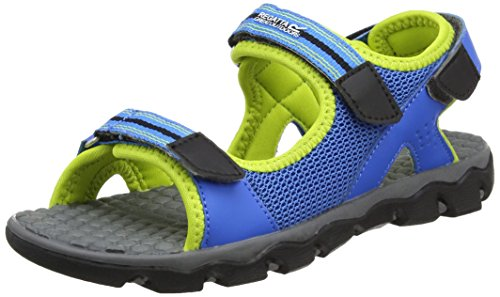 Regatta Unisex Kids' Terrarock Jnr Hiking Sandals, Blue (Frchbl/Limep), 3 UK 36 EU