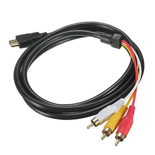 Preisvergleich Produktbild Swiftswan 5 Füße 1, 5 M 1080 P HDTV HDMI Stecker auf 3 RCA Audio Video AV Kabel Adapter