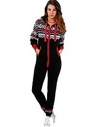 Trends Fashions - Pijama de una pieza - Manga Larga - para mujer
