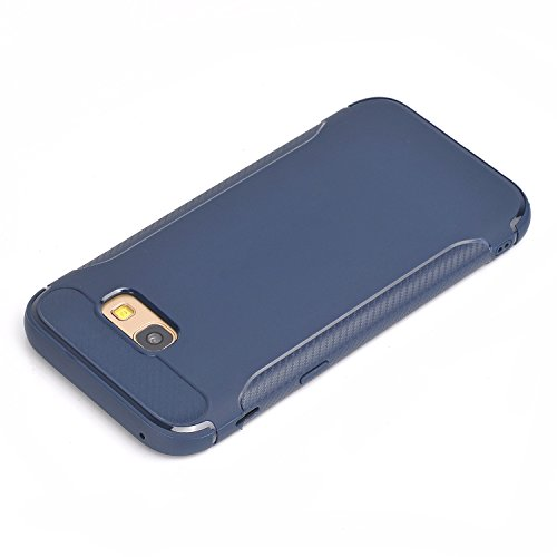 Qiaogle Telefon Case - Weiche TPU Case Silikon Schutzhülle Cover für Apple iPhone 7 (4.7 inch) - YU03 / Schwarz YU02 / Dark Blau