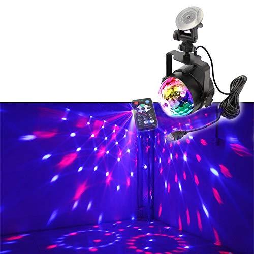 Disco Lichter Party Ball Projektor Bühne Kristall Lampe 3 Modi Muster mit Fernbedienung für Urlaub, Home Party, Bar, DJ, KTV, Geburtstag -607 -