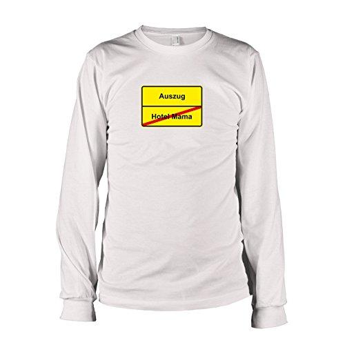 TEXLAB - Schluss mit Hotel Mama Schild - Langarm T-Shirt, Herren, Größe XXL, - Mama Kostüm-ideen Sohn