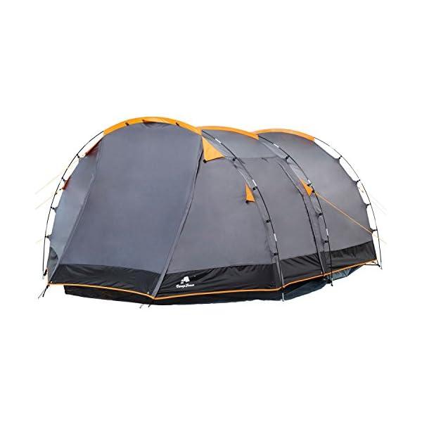 CampFeuer - Tunnel Tent, 410 x 260 x 150 cm, 4 Person, Orange / Grey / Black 2